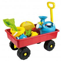 Tirando de carro con juguetes de arena