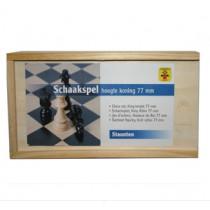 Longfield piezas de ajedrez de madera en caja - 77 mm Rey