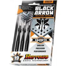 Harrows Black Arrow grado militar Steeltip Dardos