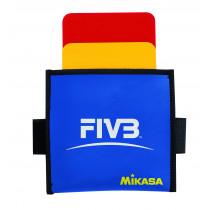 Mikasa VK Referee Card - Red / Yellow / Blue