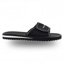 zapatilla de santander Rucanor con correa de velcro de alto nivel - negro / blanco