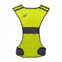 Rucanor Running del chaleco en forma de X - Neon Yellow - S