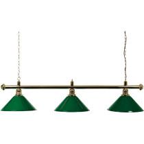 Lámpara de latón 3 Sombras 150 cm - verde