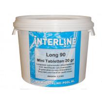 Interline Cloro comprimidos - Long 90 20 gramos / 2,5 kg