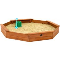 Plum gigante piscina de arena de madera