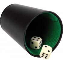 Buffalo Pokercup Cuero Negro - 9 cm