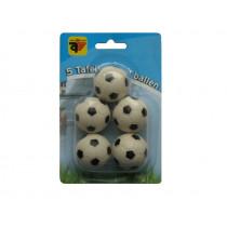bolas de fútbol de mesa y Negro 5 piezas blancas