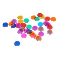 Bingo chips Transparente Multicolor - 300 piezas