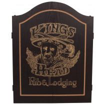 InnerGames King's Head Dart Gabinete Negro / Gold