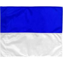 Indicador de la esquina 2 colores - azul / blanco
