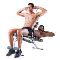 Rock Gym II 6-en-1 que forma el cuerpo total del dispositivo