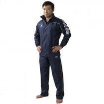 Adidas Team Track Training Pantalones - Azul / Blanco