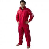 Adidas Team Track Training de la chaqueta - Rojo / Blanco