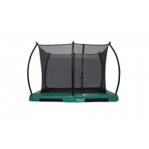 Enterrada Hi-Flyer 0965 Combi + Trampolín recinto de seguridad - 280 cm x 200 cm - verde