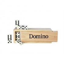 Longfield Dominó Double 6 caja de madera grande